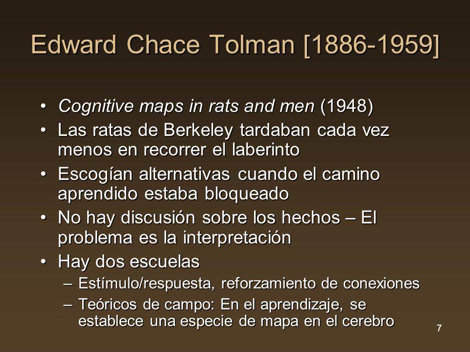 Edward Chace Tolman B D